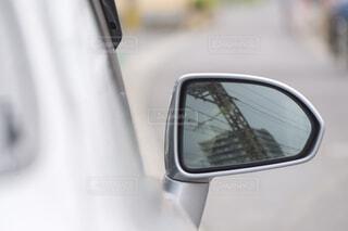 自動車のサイドミラーの写真・画像素材[4428399]