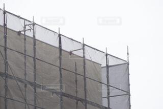 足場 建設工事 カバーシートの写真・画像素材[4428402]