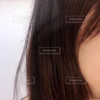 朝、ヘアセットした後の私の髪の写真・画像素材[3339032]