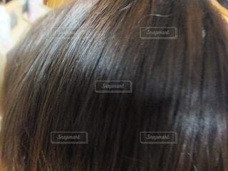 髪のクローズアップの写真・画像素材[3694919]