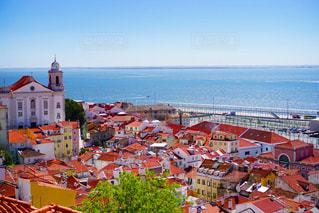 ポルトガル 、リスボン の街並みの写真・画像素材[3130880]