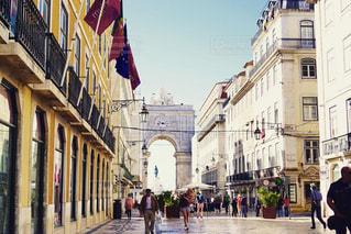 ポルトガル 、リスボン の街並みの写真・画像素材[3130879]