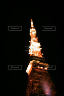 真夜中の東京タワーの写真・画像素材[3133174]