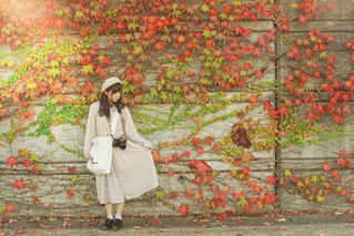 秋と女の子の写真・画像素材[3134775]