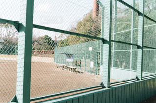 野球場とベンチの写真・画像素材[3385255]