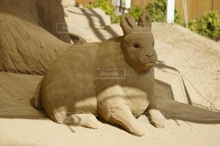 うさぎの砂像の写真・画像素材[3808420]