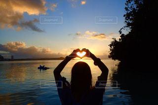 夕陽の写真・画像素材[3144086]