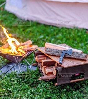 焚き火の写真・画像素材[3241865]