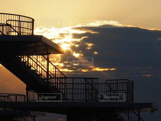 夕暮れの展望台の写真・画像素材[3967976]