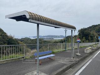 景色の良いバス停の写真・画像素材[3151391]