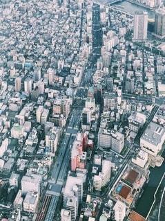上からの景色の写真・画像素材[3541668]