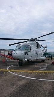 EH-101 大村航空基地にて。の写真・画像素材[3158877]