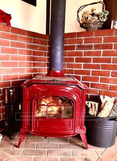 冬の暖炉の写真・画像素材[3968991]