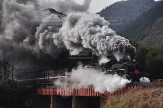 正月限定の蒸気機関車の写真・画像素材[3161704]