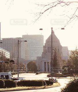 夕方の国会議事堂の写真・画像素材[3168869]