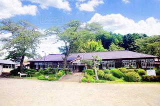 木造校舎 昭和の風景の写真・画像素材[3201311]