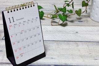 11月のカレンダーの写真・画像素材[3694736]