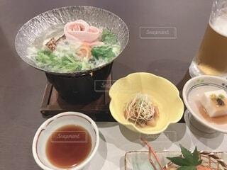 旅館の夕食の写真・画像素材[3878096]