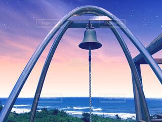 茨城県鉾田市、鹿島灘海浜公園の見晴らしの丘の鐘の写真・画像素材[4386068]