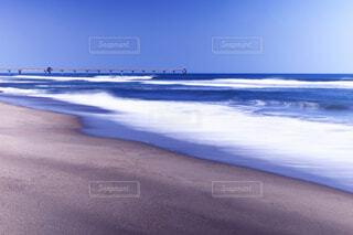 海 スローシャッターの写真・画像素材[4395805]
