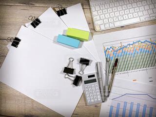ビジネスイメージ デスク 俯瞰の写真・画像素材[4457343]