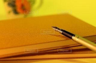 黄昏 ノートと万年筆の写真・画像素材[4771894]