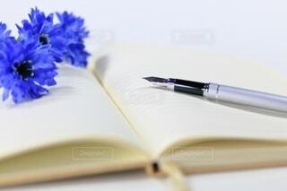 ノートと万年筆の写真・画像素材[4771914]