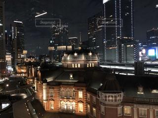 夜の都市の眺めの写真・画像素材[3202894]