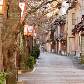 金沢主計町の街並みの写真・画像素材[3225267]