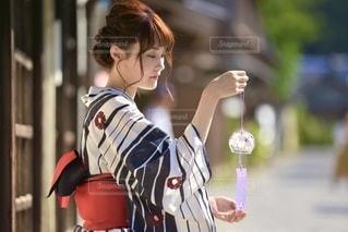 小江戸佐原と浴衣女性の写真・画像素材[3328684]