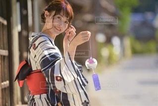 小江戸佐原と浴衣女性の写真・画像素材[3328680]