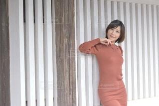 小江戸佐原にてポーズをとる美しい女性の写真・画像素材[3953165]