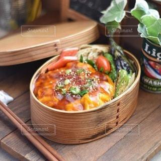 天津飯弁当の写真・画像素材[3584272]