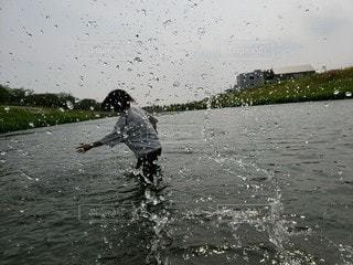 水遊びの写真・画像素材[3182221]