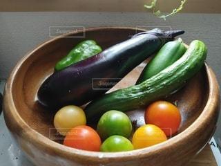 夏野菜収穫の写真・画像素材[3534948]