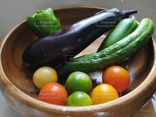 夏野菜収穫の写真・画像素材[3534945]