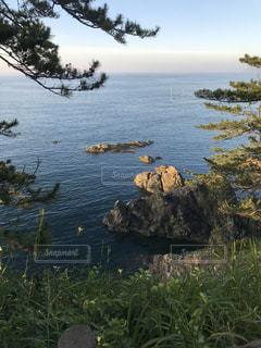 静かな海の写真・画像素材[3186077]