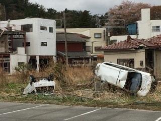 震災3年後も手つかずの富岡駅前の写真・画像素材[3190053]