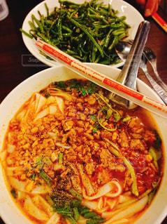 ラオス麺類と炒め物の写真・画像素材[3288871]