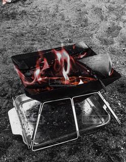 焚き火の写真・画像素材[3205210]