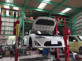 整備中のトヨタ86の写真・画像素材[3207642]