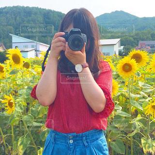 カメラ女子の写真・画像素材[3197025]