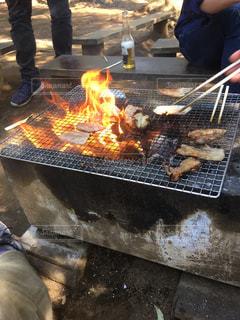 肉の網焼きの写真・画像素材[3207324]
