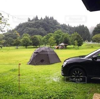 草原のテントの写真・画像素材[3584142]