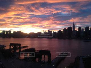 ニューヨーク雑感3 マンハッタンの夕暮れの写真・画像素材[3201422]