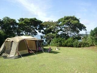 草原のテントの写真・画像素材[3206177]