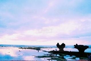 海とハートロックの写真・画像素材[3221047]
