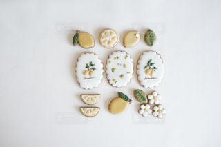 レモンのアイシングクッキーの写真・画像素材[3303091]