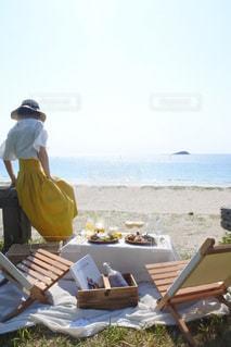ビーチピクニックの写真・画像素材[3303315]