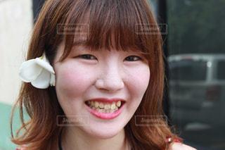 私の笑顔の写真・画像素材[3243973]